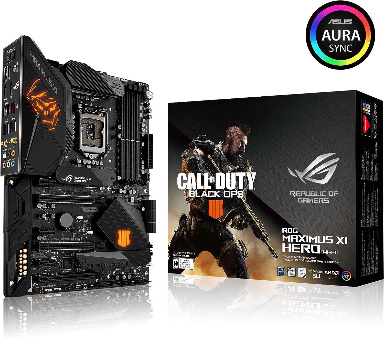 Asus ROG Maximus XI Hero (Wi-Fi) CE LGA1151 (Intel 8 9 Gen) ATX DDR4 DP HDMI M.2 Hero Call of Duty Special Edition Z390 Gaming Motherboard