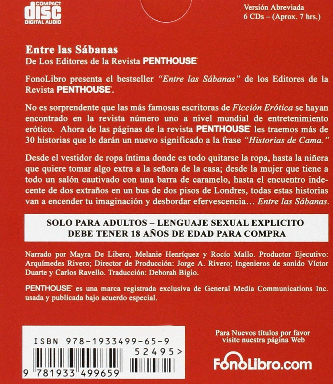 Amazon.com: Penthouse: Entre las Sabanas (Spanish Edition) (9781933499659): Penthouse International: Books