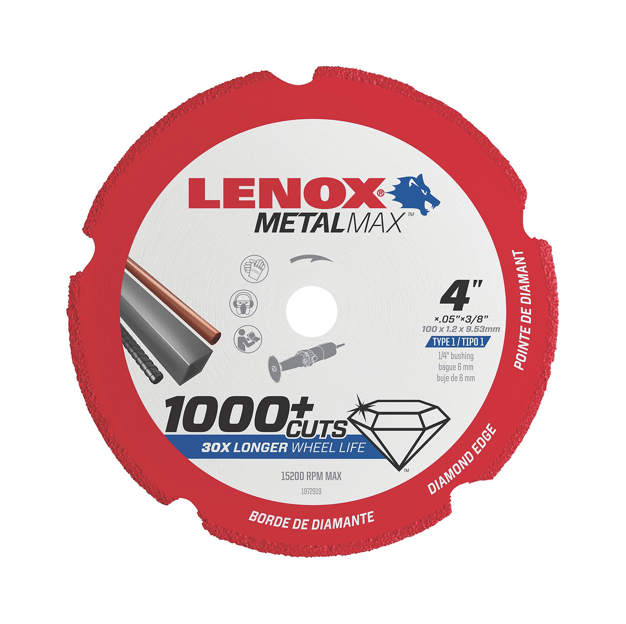 Lenox Tools 1972919 METALMAX Diamond Edge Cutoff Wheel, 4'' x 3/8''