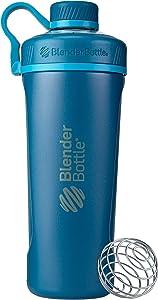 BlenderBottle Radian Insulated Stainless Steel Shaker Bottle, 26- Ounce, Deep Blue