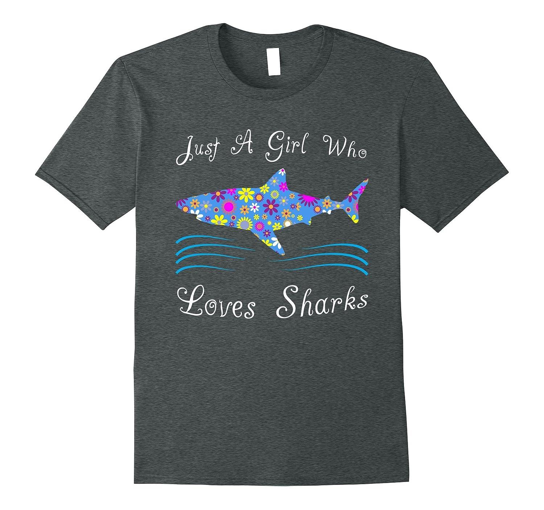 Shark Shirts For Girls – Cute Kids Shark Gift Tees-RT ...