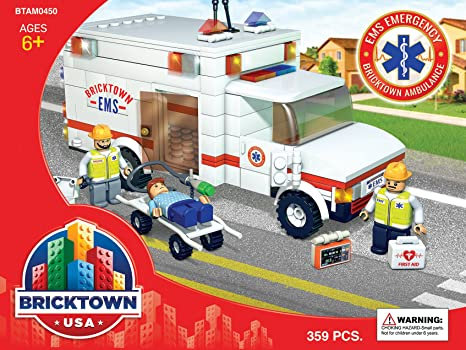Amazon Com Ambulance Bricktown Usa Toys Games