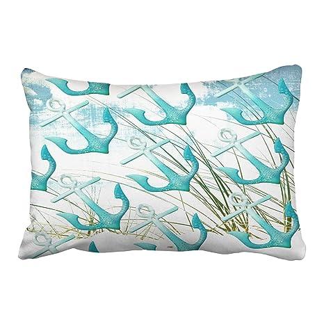 Amazon.com: Accrocn Pillowcases Nautical Anchors Beach Ocean ...