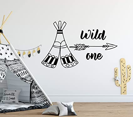 Tee Pee Wall Sticker Wall Art Decor Vinyl Decal Mural Kids Room Decor