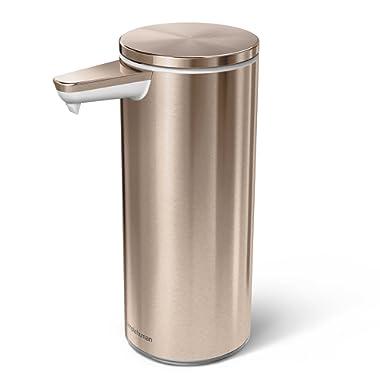 simplehuman 9 oz Sensor Pump, Rose Gold Steel Stainless