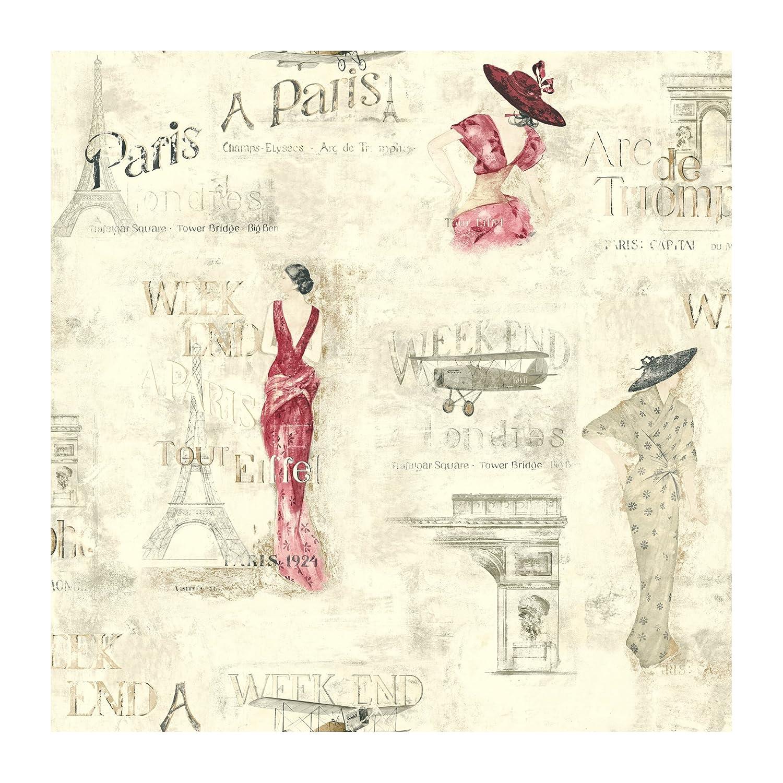 York Wallcoverings Europa II Weekend In Paris Prepasted Wallpaper