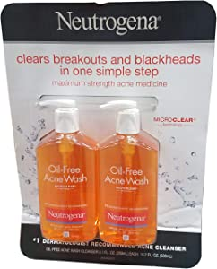 Neutrogena Oil Free Acne Wash, 18.2 Ounce