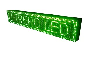 CARTEL LED PROGRAMABLE LETRERO LED PROGRAMABLE PANTALLA LED PROGRAMABLE (96 * 16 cm, VERDE) ROTULO LED PROGRAMABLE CARTEL ELECTRÓNICO ANUNCIA TU ...