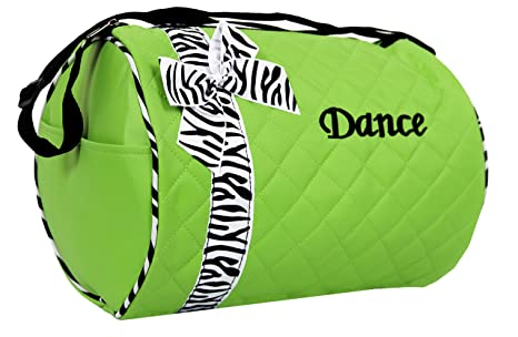 Image Unavailable. Image not available for. Color  Dance bag - Quilted Zebra  Duffle in Green db0c8a6ba173a