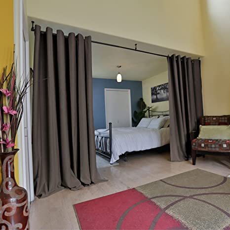 Amazoncom Roomdividersnow Premium Heavyweight Room Divider Curtain