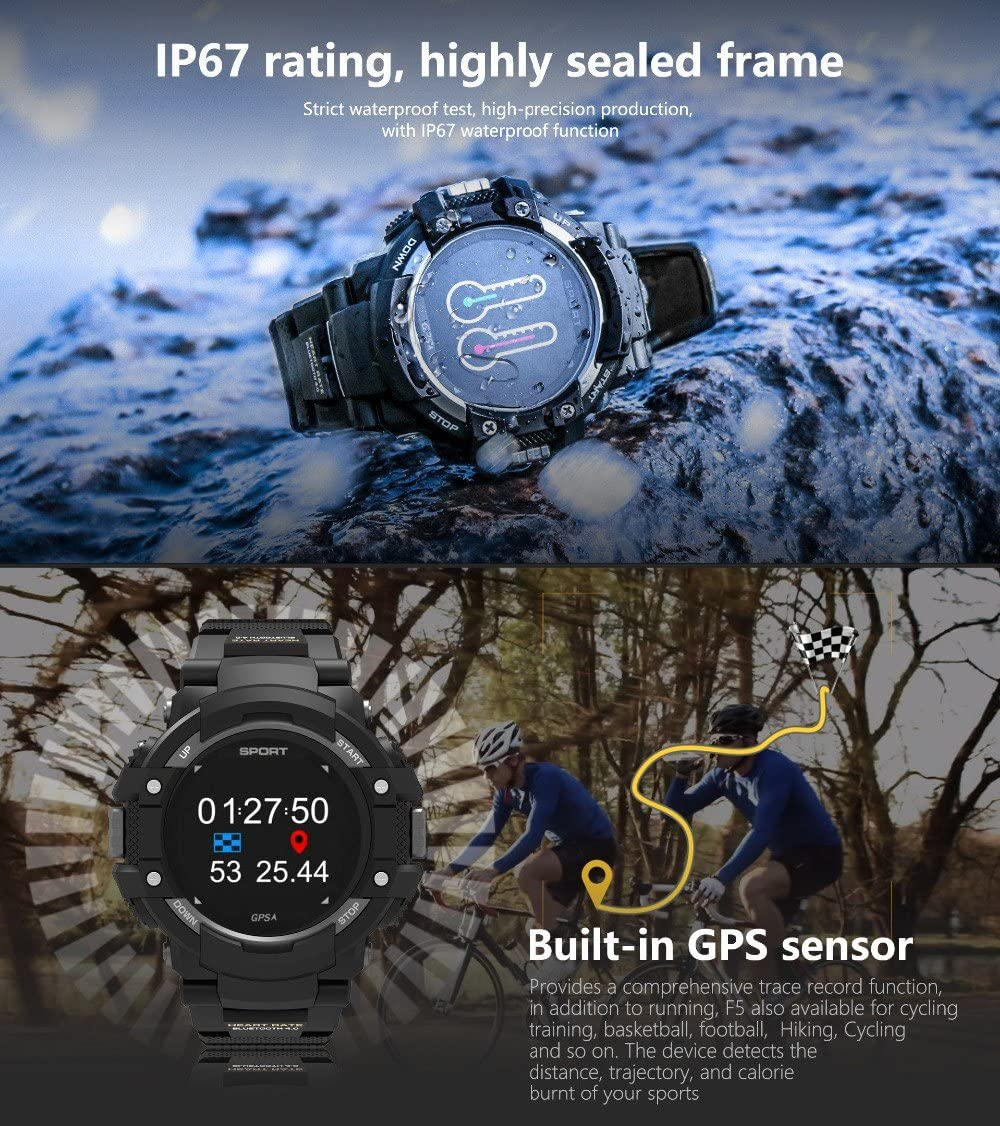 Reloj inteligente NO.1 F7 con monitor de temperatura y frecuencia ...