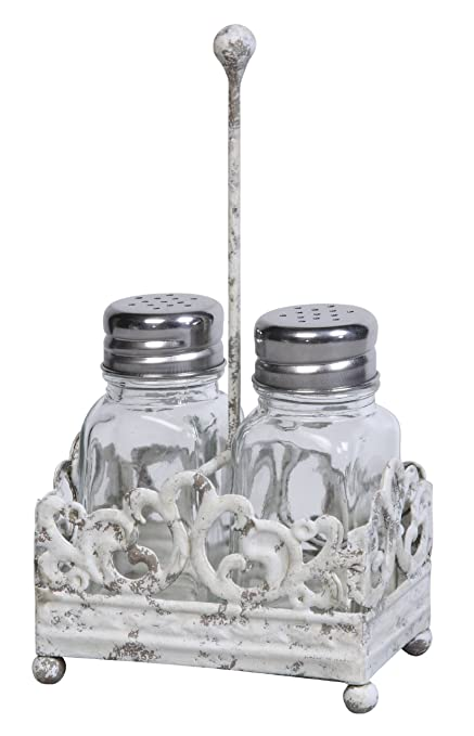 Beautiful Amazon.com: Creative Co-op Cottage Chic Metal Salt and Pepper  XW68