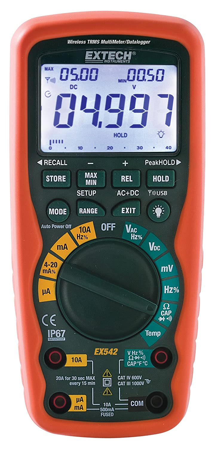 Extech EX542 Wireless 433MHz True RMS Industrial MultiMeter Datalogger