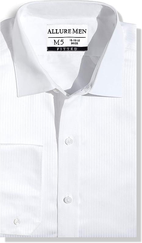 Amazon.com: Allure - Camisa de vestir para hombre, con ...