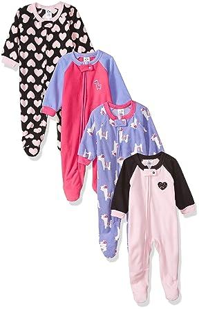 Amazon.com  Gerber Baby Girls  4-Pack Blanket Sleeper 2e8b88928