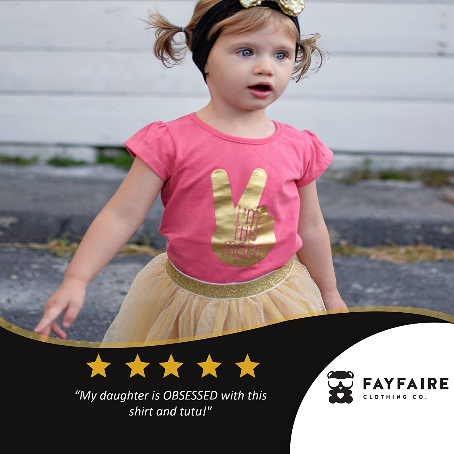 Fayfaire 2nd Birthday Shirt Boutique Second Birthday Girl Im This Many 2T