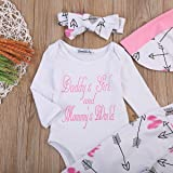 Emmababy Newborn Girls Clothes Baby Romper Outfit