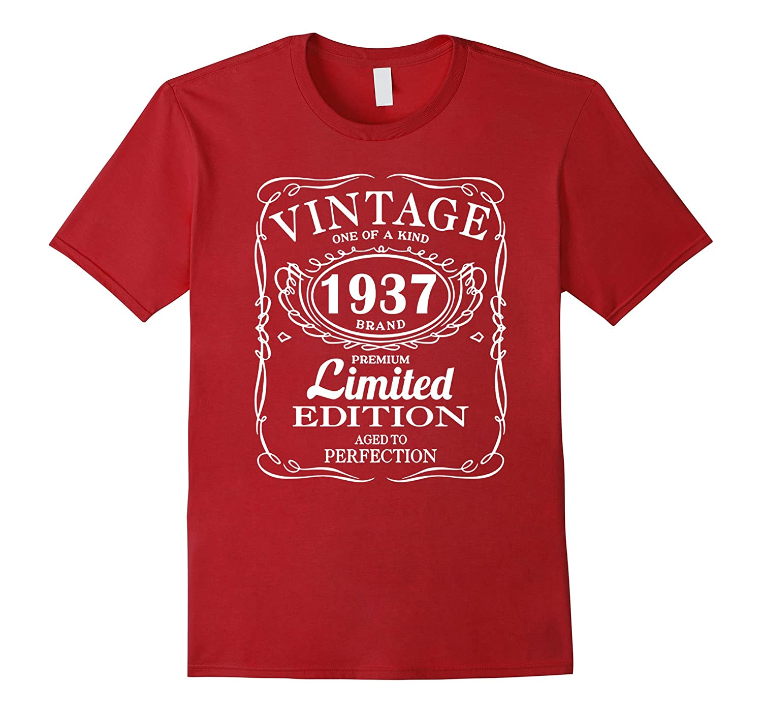 Vintage Born In 1937 80 Years Old Birthday Tshirt TD
