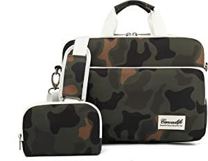 Canvaslife 360 Degree Protective Water Resistant Laptop Shoulder Messenger Sleeve Case Bag (15 inch-15.6 inch,Camouflage)