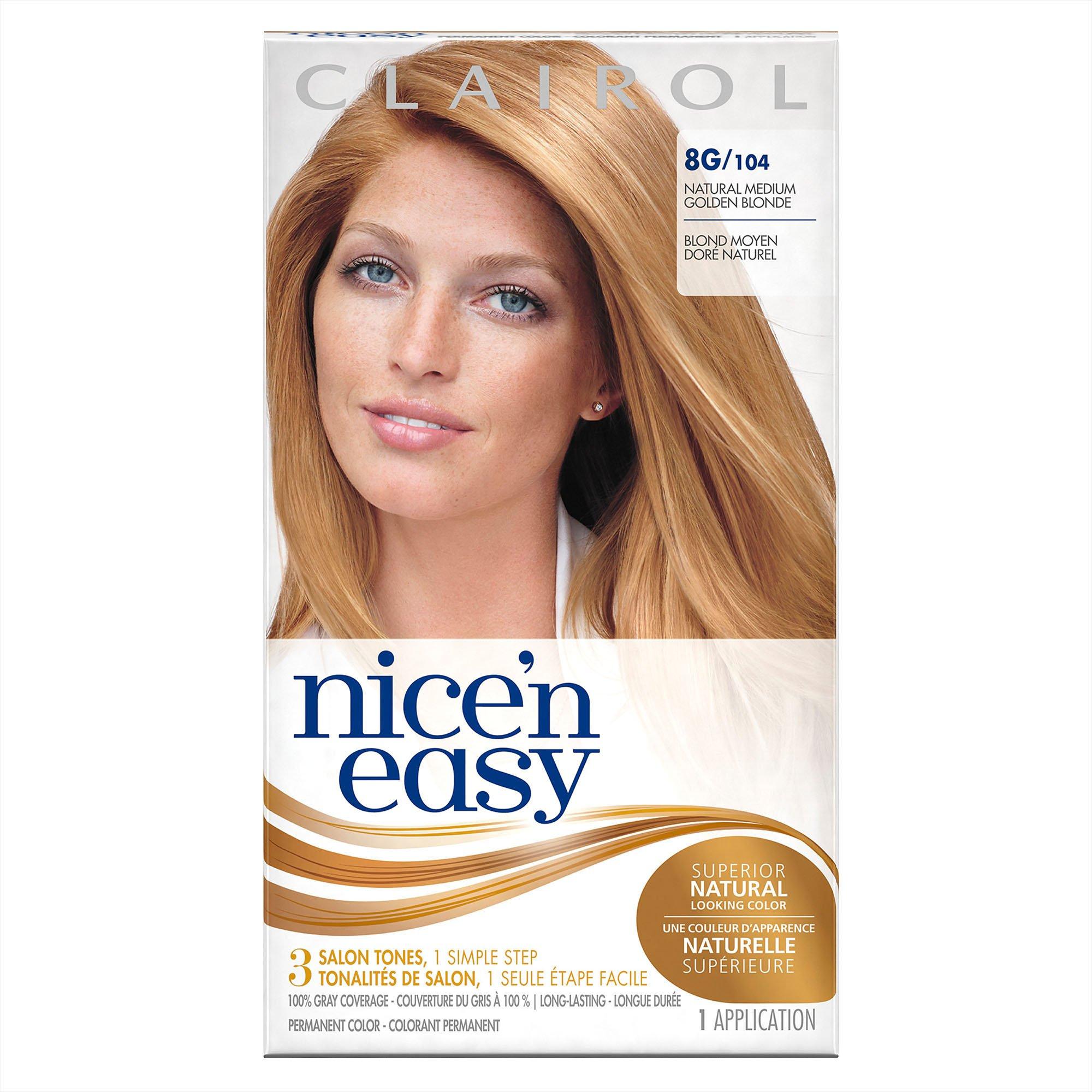 Amazon Clairol Nice N Easy 8g104 Medium Golden Blonde