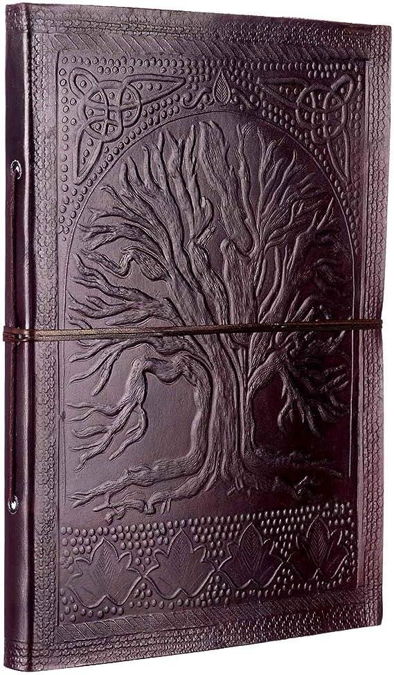 in pelle goffrata 260/x 340/mm Album portafoto extra grande con design albero della vita