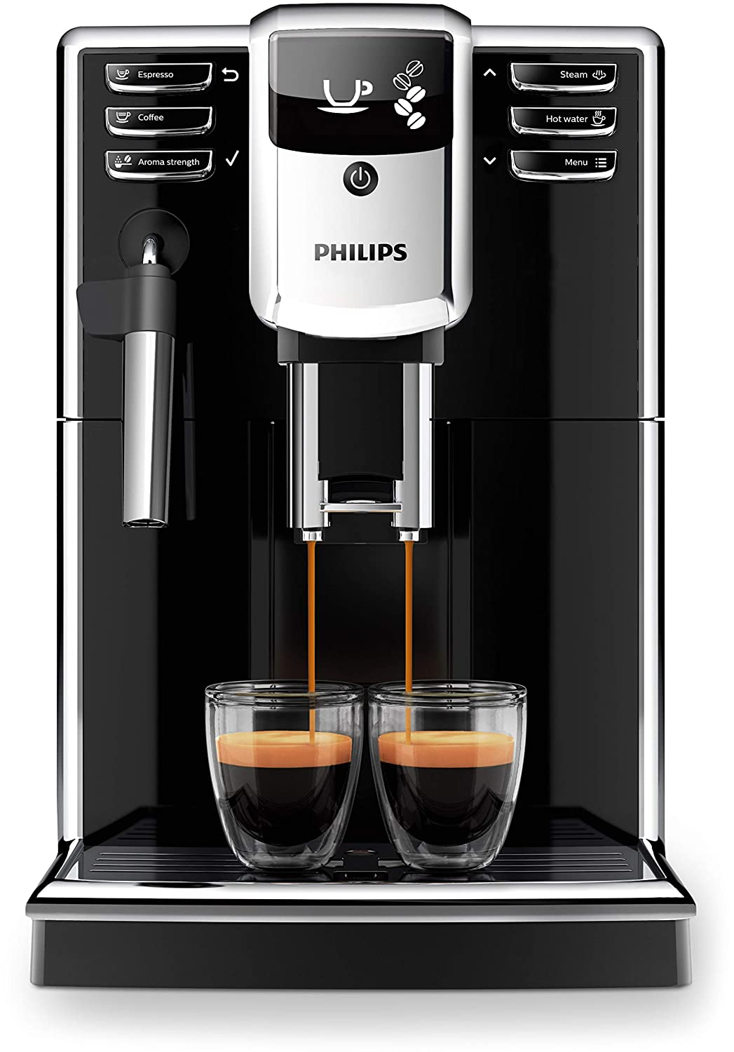 Philips 5000 series - Cafetera (Independiente, Máquina espresso, 1,8 L, Granos de café, Molinillo integrado, Negro): Amazon.es: Hogar