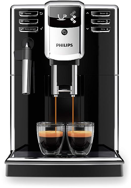 Philips 5000 series - Cafetera (Independiente, Máquina espresso, 1,8 L, Granos de café, Molinillo integrado, Negro)