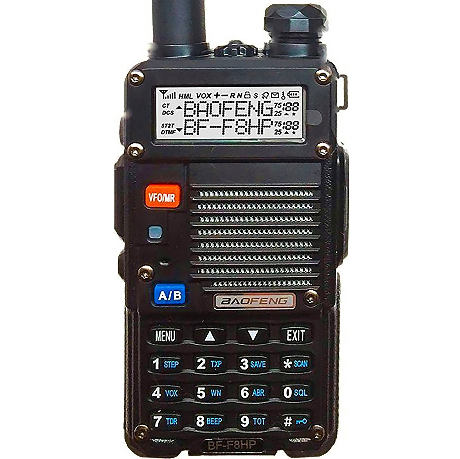 BF-F8HP (UV-5R 3rd Gen) 8-Watt Dual Band Two-Way Radio (136-174MHz VHF & 400-520MHz UHF) Includes Full Kit with Large Battery by flyingus