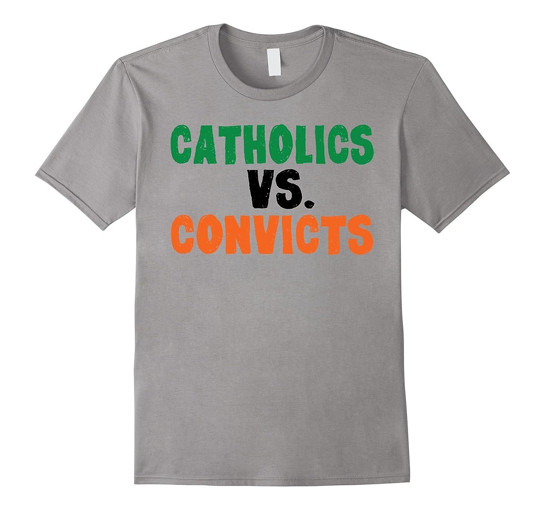 Catholics Vs. Convicts 1988 T-Shirt Cool Footbal Retro Shirt-TD