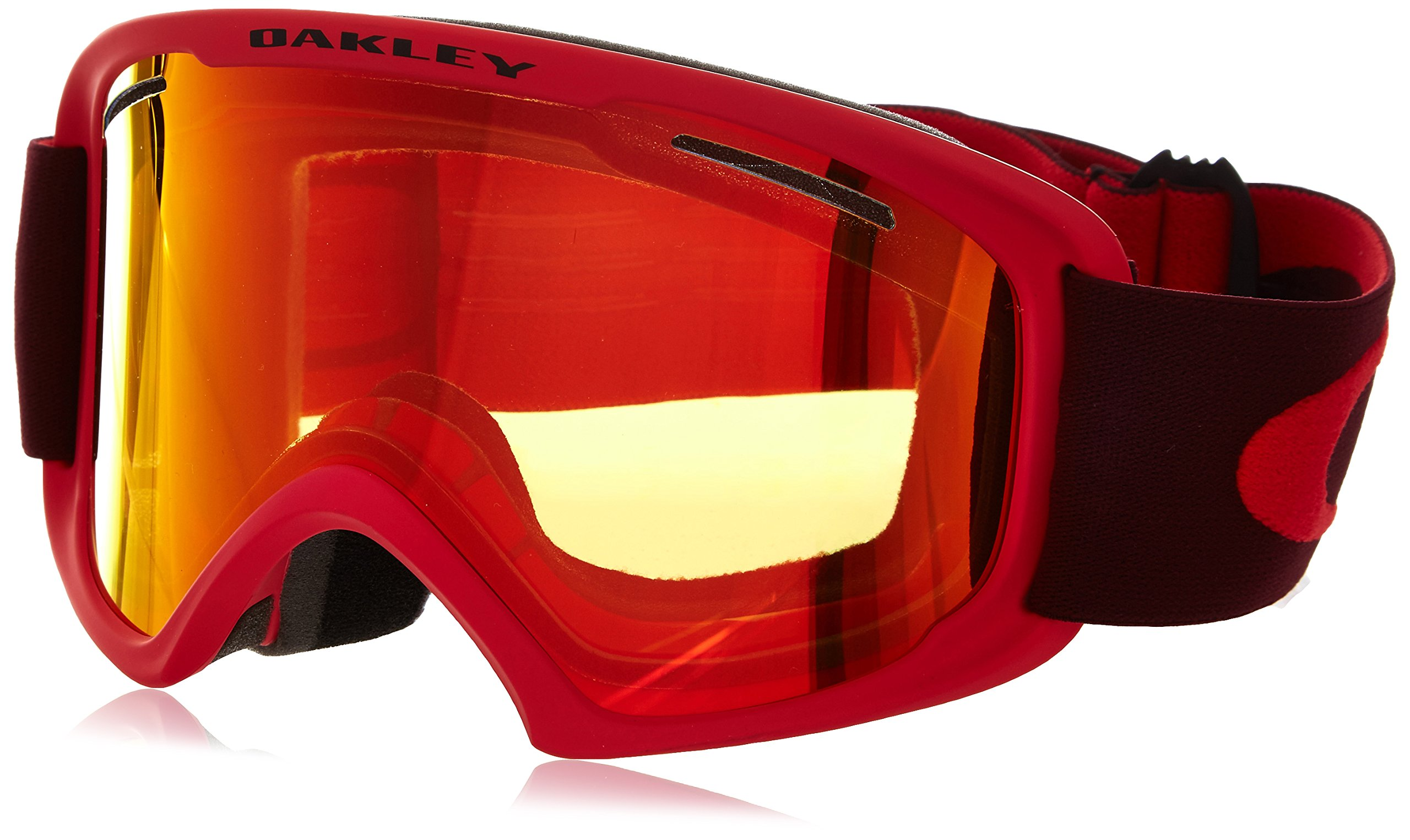 Oakley OO7045-12 O2 XL Eyewear, Red Rhone, Fire Iridium Lens by Oakley