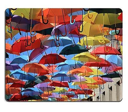 Luxlady ratón para Gaming imagen ID: 22521944 calle decorado con luces de colores paraguas Madrid