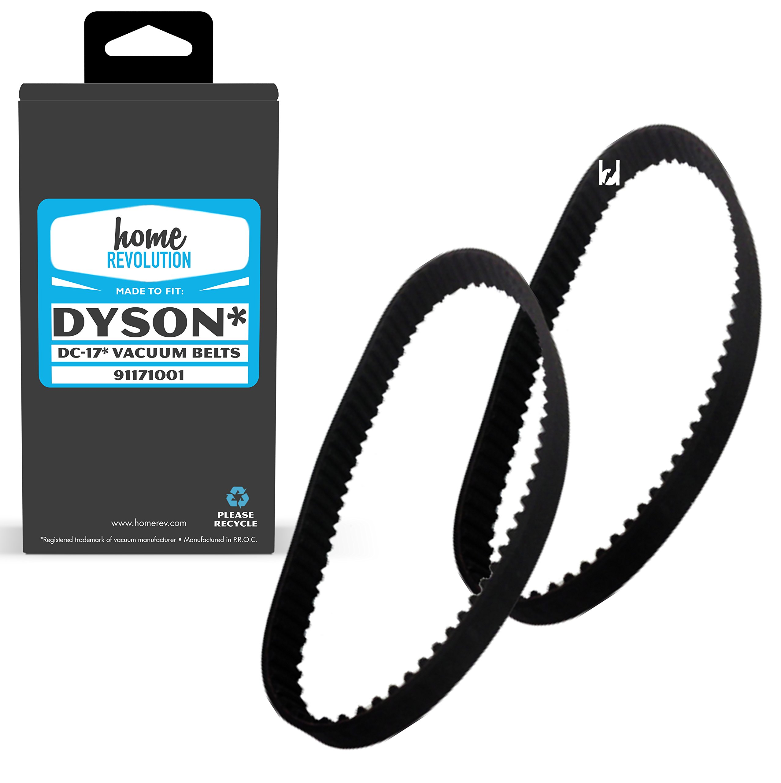 Home Revolution Replacement Vacuum Belt fits Dyson DC17 Animal Cyclone Upright, Asthma & Allergy, and Total Clean vacuum models and Part 911710-01
