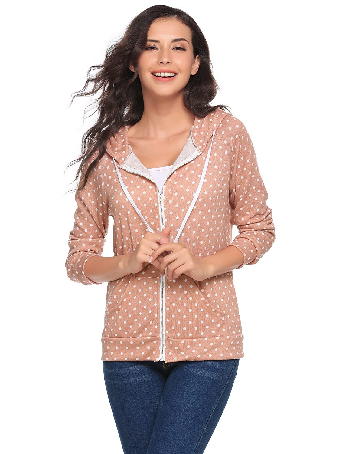 This zip-front hooded sweatshirt keeps things comfortable with  skin-friendly fabric 3dff802ba
