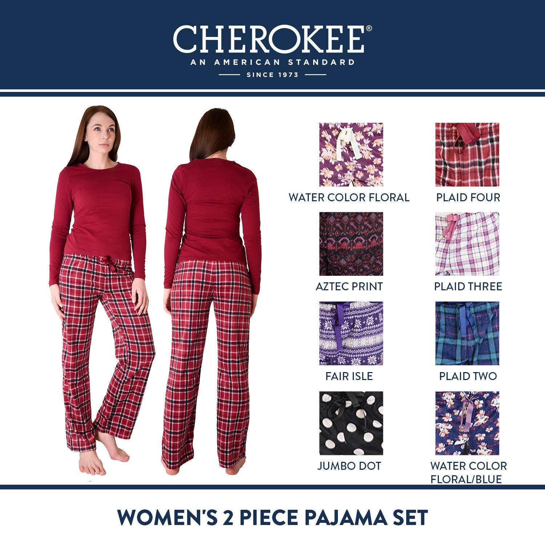 2d5f90c2f6ab Cherokee Women's 2 Piece Pajama Set at Amazon Women's Clothing store: