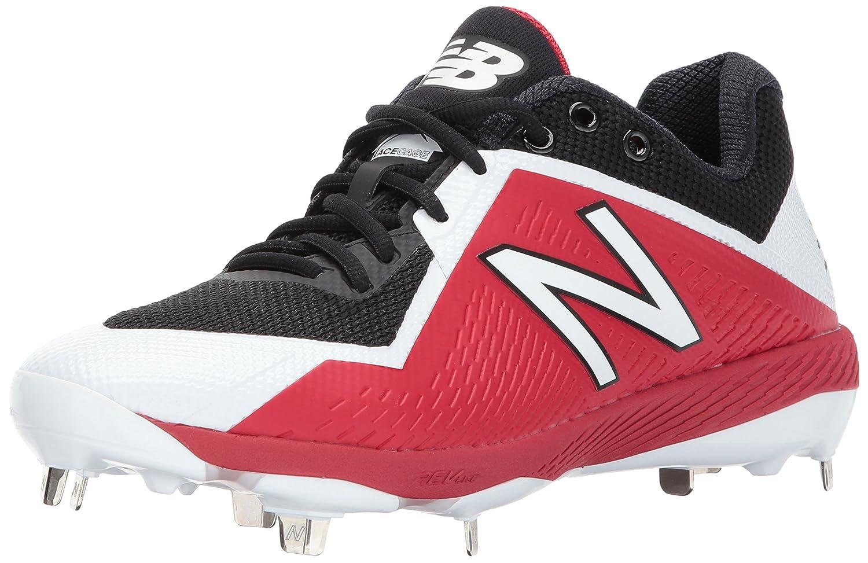 New Balance Men's L4040v4 Metal Baseball Shoe B01MYPFZTI 7.5 D(M) US Black/Red