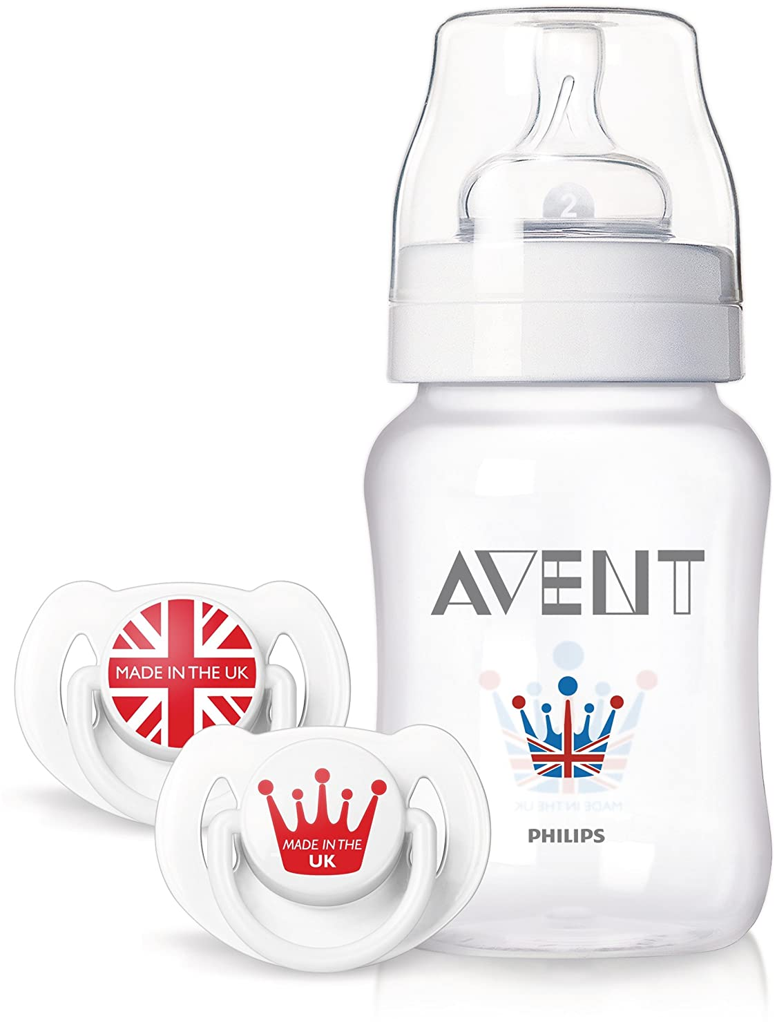 Philips AVENT Limited Edition Royal Classic Bottle and Pacifiers Set, 9 Ounce (Discontinued by...