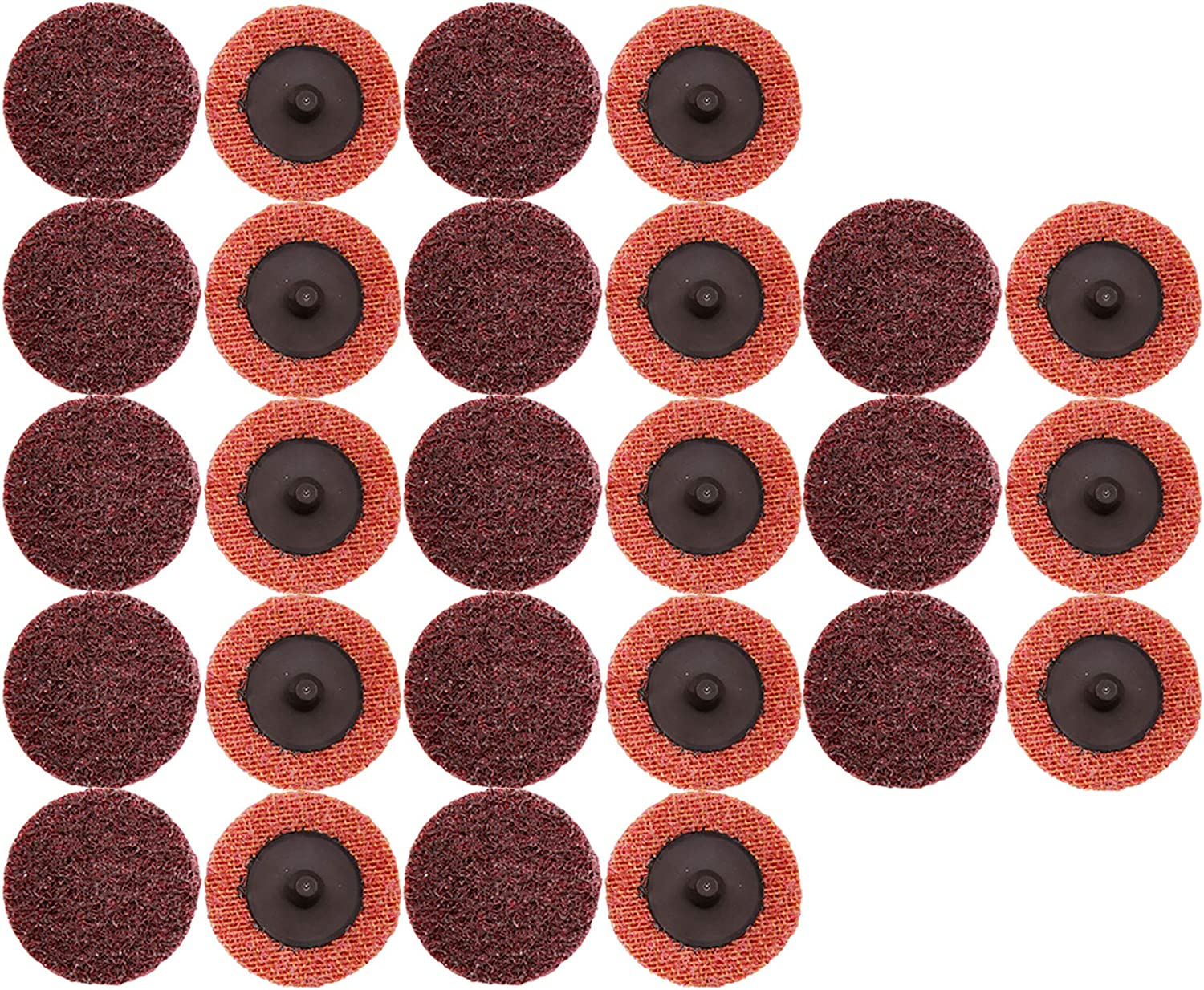 COSPOF 2 Inch Roloc Sanding Disc,Surface Conditioning Disc,Easy for Quick Change,Features Better Surface Quality and Heat Dissipation -26 Pack (Red-Medium). 81RCKfI6IZL