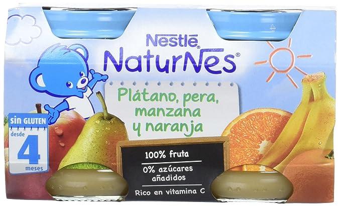 Nestlé Naturnes - Alimento Infantil Plátano, Pera, Manzana y Naranja - Paquete de 2