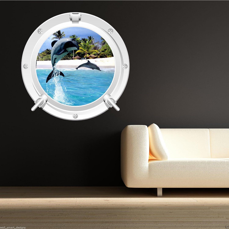 Wand Smart Designs wsd579 m Delfin Meer Bullauge Voll Farbe ...