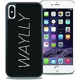 【WAYLLY】iPhone X ケース, [どこでもくっつくケース] [Qi充電対応] [米軍MIL衝撃吸収規格] ウェイリー アイフォン X用 耐衝撃 カバー [iPhone X](LOGO WHITE)