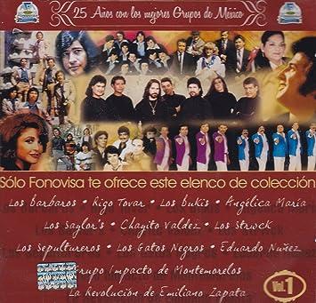 LOS BARBAROS RIGO TOVAR LOS BUKIS ANGELICA MARIA LOS SAYLORS CHAYITO VALDEZ DULCE ROSARIO LA TROPA LOCA Y MAS - 25 ANIVERSARIO DE LA MEJOR MUSICA DE MEXICO ...