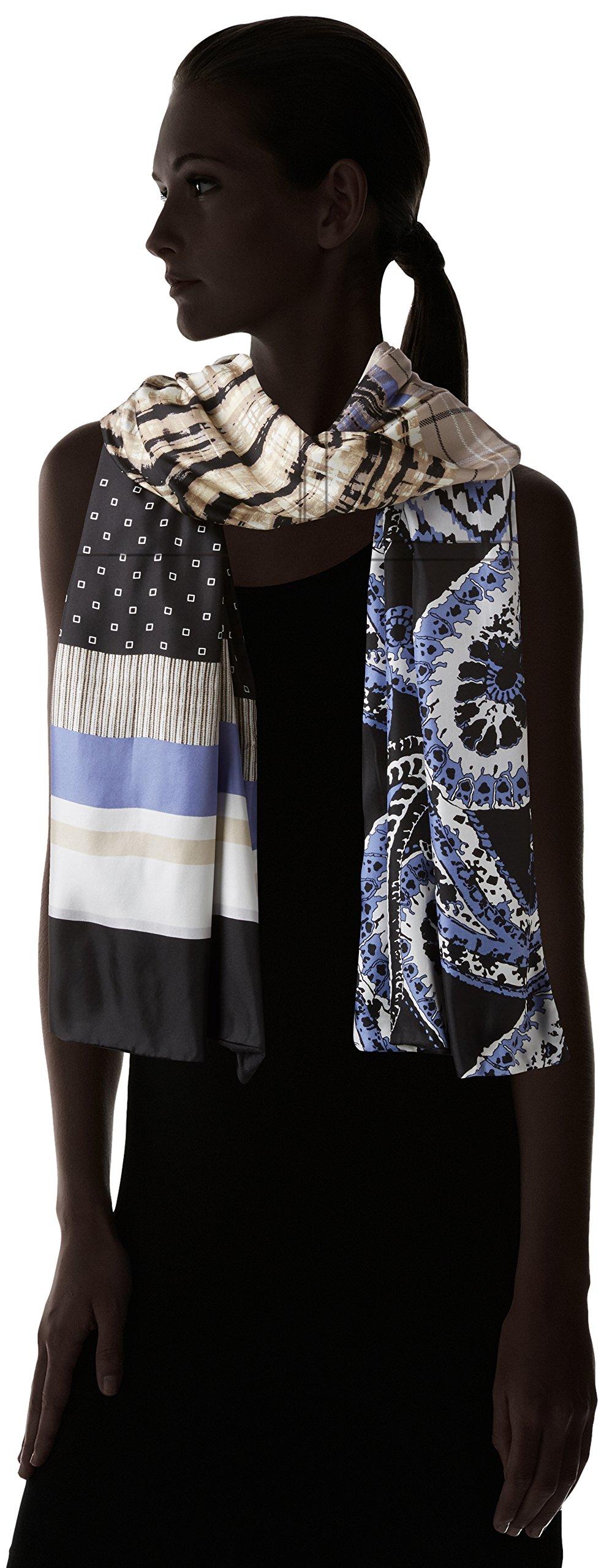 Bcbgmaxazria Women's Patchwork Wrap, Blue Depths, One Size by BCBGMAXAZRIA (Image #3)