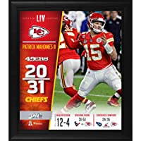 "$49 » Patrick Mahomes Kansas City Chiefs Framed 15"" x 17"" Super Bowl LIV Champions Collage - NFL Player Plaques and Collages"