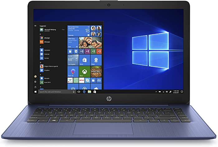 (Renewed) HP Stream 14 inches HD(1366x768) Display, Intel Celeron N4000 Dual-Core Processor, 4GB RAM, 32GB eMMC, HDMI, WiFi, Webcam, Bluetooth, Win10 S, Royal Blue, 14-cb161wm