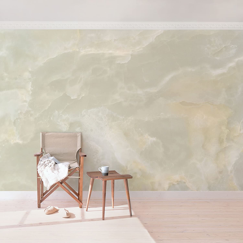 Bilderwelten Vliestapete Marmor Tapete - Onyx Onyx Onyx Marmor Creme - Fototapete Breit Vlies Tapete Wandtapete Wandbild Foto 3D Fototapete, Größe HxB  190cm x 288cm 835d16