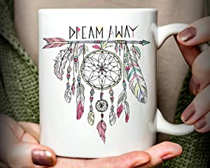 Lplpol Tea Mug - Dream Away Mug, Inspirational Mug, Perfect For Gifting or Collecting, 15 oz