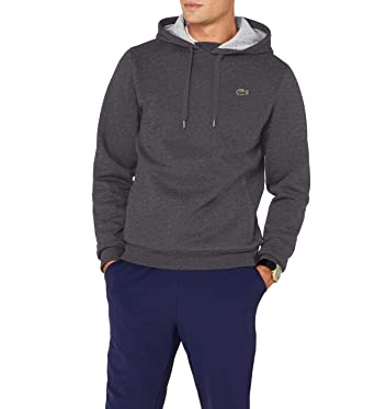 0a7a7d13abbb Lacoste Sport SH2128 Sweat-Shirt Gris (Bitume Argent Chine) X-Small