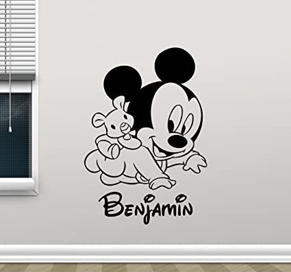 . Personalized Mickey Mouse Wall Decal Custom Name Walt Disney