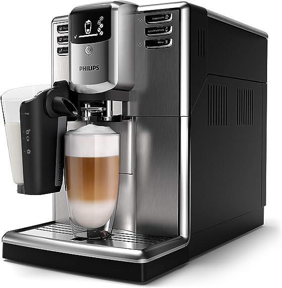 Philips Serie 5000 EP5335/10 Cafetera Súper, 6 Bebidas de Café, Jarra de Leche Latte Go Muy Facil de Limpiar, Limpieza Automatica, Molinillo Ceramico, Acero Inoxidable: Amazon.es: Hogar