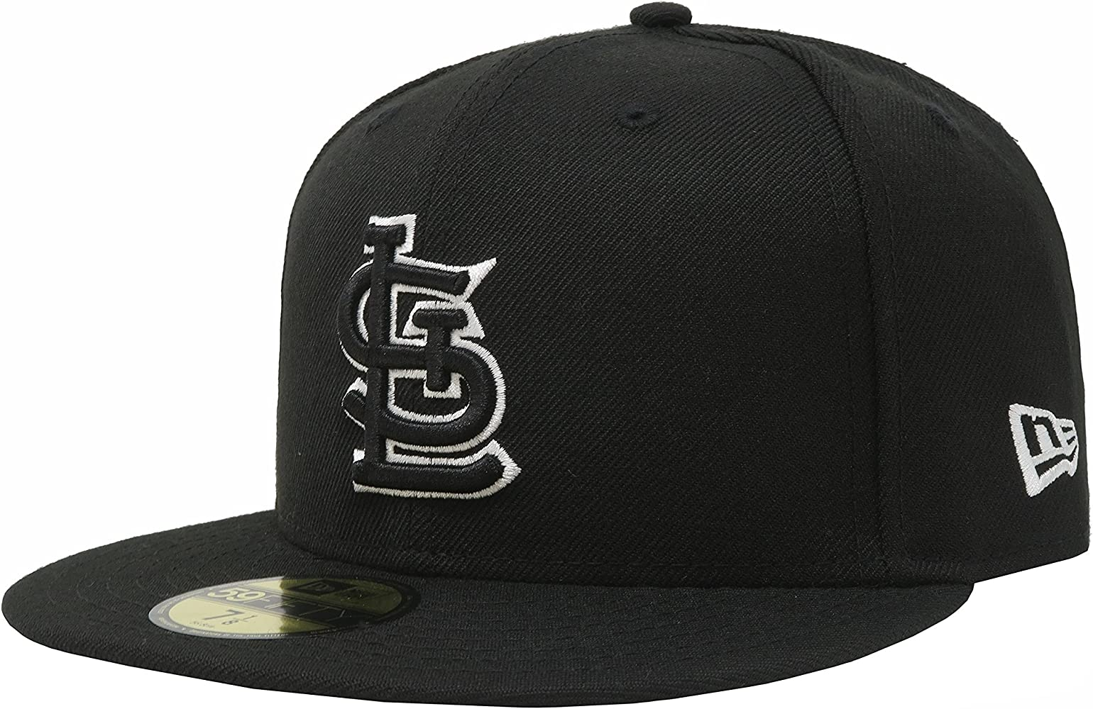 uk availability b48c4 32e1d New Era 59Fifty Men Hat MLB St. Louis Cardinals Black White Fitted Headwear  Cap